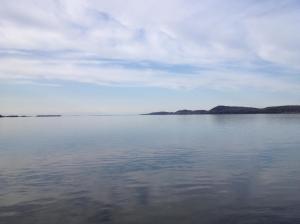 an enormous lake